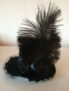 "This gothic mini hat is called ""interview with the vampire"" https://www.etsy.com/listing/224012036/steampunk-gothic-mini-top-hat-interview?ref=listing-shop-header-2"