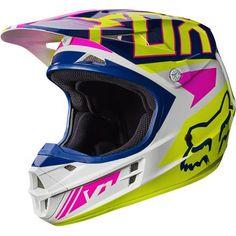 2017 Fox Racing Falcon Helmet-Navy/White-M Womens Dirt Bike Gear, Dirt Bike Riding Gear, Dirt Bike Helmets, Motocross Helmets, Dirt Bike Girl, Racing Helmets, Dirt Biking, Fox Helmets, Motocross Girls