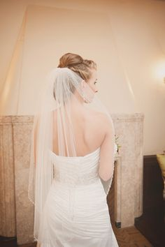 Veil trimmed with beads