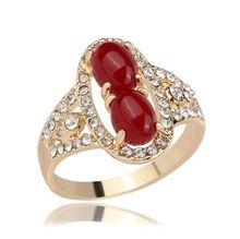 Hot prodej Nový přírůstek Evropa a Amerika módní Vytvořeno diamantového krystalu Dámská dámské Elegance zvonit prsteny kapely dárek A-2390 (Čína (pevninská část))