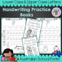 australian handwriting practice book pinterest school fonts handwriting worksheets and. Black Bedroom Furniture Sets. Home Design Ideas