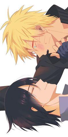 Sasuke e Naruto (SasuNaru) Naruto Vs Sasuke, Anime Naruto, Naruto Comic, Naruto Cute, Naruto Shippuden Anime, Hinata, Sasunaru, Narusasu, Cosplay Anime