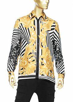 versace shirt mens silk