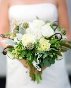 Green-and-White Bouquet