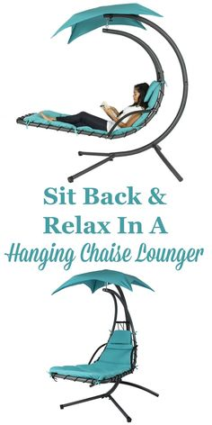I definitely would love to read a book and relax in this hanging chaise lounger, what about you?
