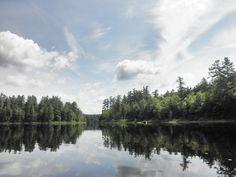 Caption: Good day to kayak, Rollins Pond