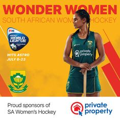 Make sure to get down to Wits Astro tomorrow (July to support the SA Womens Hockey Team as they take on Germany at in the World League Quarter Finals! Hockey Sport, Women's Hockey, Hockey World, Field Hockey, Female Athletes, African Women, Finals, Germany, Wonder Woman