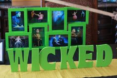 Amazing pics of a Wicked Themed Birthday Party! 13th Birthday Parties, 25th Birthday, Birthday Party Themes, Halloween Picture Frames, Halloween Pictures, Broadway Theme, Wicked Musical, Movie Themes, Sweet 16 Parties