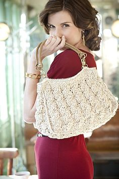 crochet cabled bag