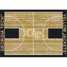 """This is the perfect rug for any Georgia Tech's students dorm or apartment. College Court Georgia Tech Yellow Jackets Rug Size: 10' 9""""x13' 2"""" $718.80"""