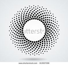 Halftone dots in circle form. tiny squares in round logo . Circle Borders, Circle Pattern, Textures Patterns, Fabric Patterns, Wall Design, Logo Design, Hotel Signage, Lenotre, Design Textile