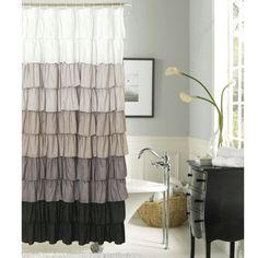ruffle shower curtain.