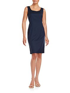 0224dbf4 Lafayette 148 New York Rebecca Solid Dress - Cobalt Color - Size New York  Style,