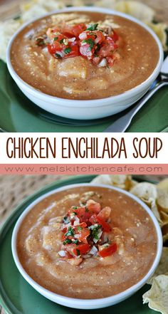 If you make this chicken enchilada soup you will be getting one of the most delicious soups around and will also be getting a heaping dose of veggies, too!