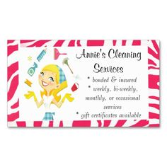 218 best maid services business cards images on pinterest in 2018 cleaning services maid business card pink colourmoves