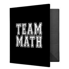 Team Math 3 Ring Binder  Click on photo to purchase. Check out all current coupon offers and save! http://www.zazzle.com/coupons?rf=238785193994622463&tc=pin