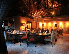 Bali, Indonesia, Asia: dining room at Sarong in Seminyak is understated and romantic. Dinner booked, yay!