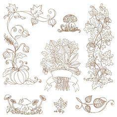 色を付けたり、このままシンプルに使って見たり、いろいろ楽しめそうなナチュラルな秋のイラスト素材です。 ワンポイ…