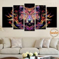 Abstract Wolf Full Hd Personalized Customized Canvas Art Wall Art Wall Decor