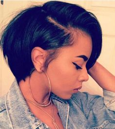 Short Bob Wigs For African American Women The Same As The Hairstyle In The Picture - Wigs For Black Women - Lace Front Wigs, Human Hair Wigs, African American Wigs, Short Wigs, Bob Wigs Short Bob Wigs, Short Bob Hairstyles, Black Women Hairstyles, Short Hair Cuts, Wig Hairstyles, Hairdos, Trendy Hairstyles, Hairstyle Ideas, Bob Haircuts