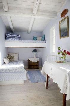 Living Large In Small Spaces - Nostalgic Summerhouse Summer House Interiors, Cottage Style, Home, Summer House Inspiration, House Inspiration, House Interior, Cottage Interiors, Beach House Bedroom, Beach Cottage Decor
