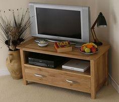 Newark Natural Solid Oak Corner TV Cabinet