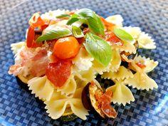 Pasta met gegrilde groenten, knapperige parmaham en pancetta. Makkelijk te maken en oh zo lekker :)