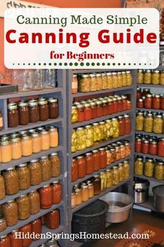 If you grow your own food in your backyard garden or from the local farmers market, canning food produces high quality nutritional foods for your family. Home Canning Recipes, Canning Tips, Garden Canning Ideas, Canning Soup, Pressure Canning Recipes, Easy Canning, Canning Salsa, Canning Pickles, Canning Food Preservation