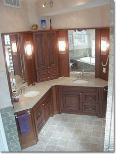 Beautiful Bathrooms On Pinterest Corner Bathtub Corner Tub And Bathroom Vanities