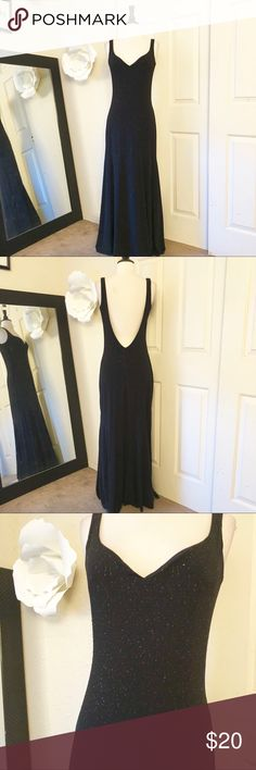 B. Darlin Backless Black Gown Size 6 Preowned B. Darlin Backless Black Gown Size 6. Good condition B. Darlin Dresses Backless