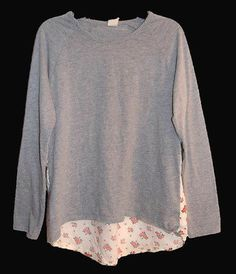 Tucker & Tate Long Sleeve Top Shirt Floral Gray Size XL Extra Large 14