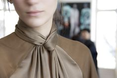 Carmel like browns and high necklines at Givenchy