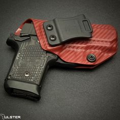 A Carbon Fiber Blood Red Profile holster for a Sig P938.  #sig #profileholster #tulster #p938