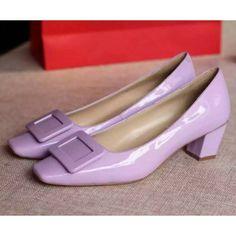 Roger Vivier Belle Vivier Patent Leather 45mm Pump Purple Roger Vivier Shoes, Shoe Box, Types Of Shoes, Catwalk, Patent Leather, Womens Fashion, Fashion Trends, Footwear, Pumps