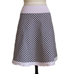 Stretch Cotton Caning Print A-line Skirt by  Melanie Grace Designs, $95.00