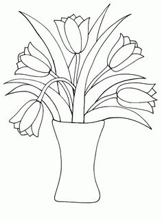 Printable Coloring Pictures Of Flowers Unique Vase and Flowers Coloring Page Col. Barbie Coloring Pages, Pattern Coloring Pages, Coloring Pages For Girls, Cool Coloring Pages, Flower Coloring Pages, Christmas Coloring Pages, Coloring Books, Mandala Coloring, Adult Coloring