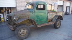 1941 Dodge WC-12 4x4 ½ ton pickup in very good condition. Good running engine and yes….the brakes work. Dash is complete and un-modified, the interior and bottom of doors are in great condition, orig. pickup bed and tailgate w/plywood floor. Orig. upholstery (one small area on driver side needs patching) and gauges. New windshield and side window glass. Door latch mechanisms working. Vintage period heater. Includes Idaho title. $8950 David 714 310 9934, Palm Desert, Ca. dbcolts@aol.com