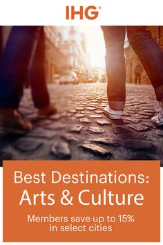 If you love museums, monuments, and stunning architecture then you'll love these destinations. IHG has hotels in some of the world's most culturally rich places – Washington, D.C., Boston, Mexico City, Winnipeg – to name a few. Members save up to 15% in select cities. Start the search for your next vacation at ihg.com.