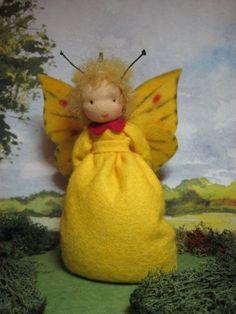 Schmetterling Zitronenfalter Blumenkinder-Unikate