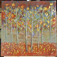 Golden Trees Oil Painting