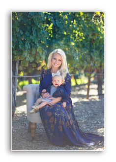 mommy and daughter winery holiday photo
