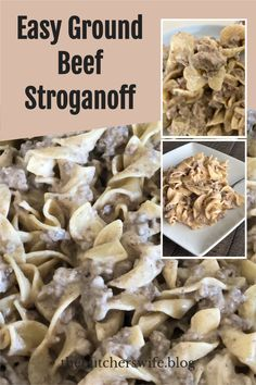 EASY STROGANOFF Made with Ground Beef! Easy comfort food everyone will love! Comfort Food Meaning, New Recipes, Crockpot Recipes, Easy Ground Beef Stroganoff, Fast Easy Meals, Creamy Sauce, Creamed Mushrooms, International Recipes, Casseroles
