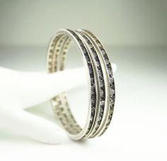 Vintage Bracelet 800 Silver Filigree Bangle by zephyrvintage, $45.00 #vintagejewelry   #vintagebracelet #silverbangles #filigreesilver
