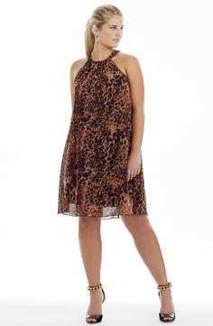 Animal Print Cutaway Dress