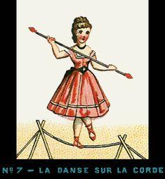 Quelques bandes réalisées par Emile Reynaud Bande de Praxinoscope n°7 - La Danse sur la corde