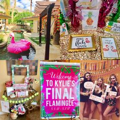 Let's Flamingle While She's Still Single and Party Like a Pineapple Bachelorette Party in Palm Springs! Beach Bachelorette, Bachlorette Party, Bachelorette Party Decorations, Let's Flamingle, Tropical, Mo S, Palm Springs, Pineapple, Bridesmaids