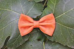 Papillon per uomo arancione ruggine verde oliva di ScoccaPapillon