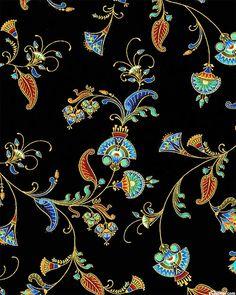 Alexandria - Nefertiti's Flower Garden - Black/Gold