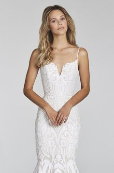 6856a90cf19 Style 1710 West Blush by Hayley Paige bridal gown - Ivory Marrakesh beaded  fit to flare bridal gown