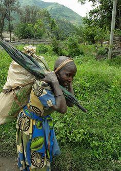 Old farm lady, Kilembe Valley, Uganda